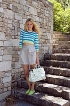 Topshop blouse - Luella bag - Zara skirt
