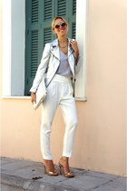 Zara sandals - Zara jacket - Zara pants