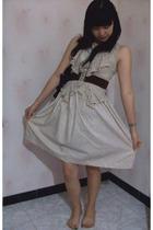 dress - belt - vest
