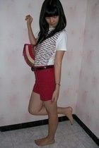 Bali t-shirt - arnessio shorts - moms belt - accessories