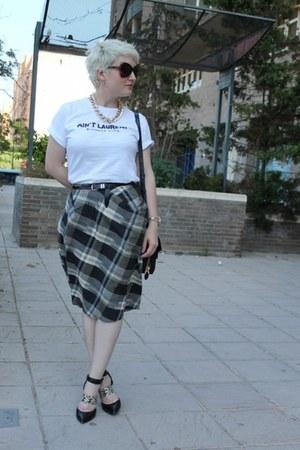 Religion skirt - Sigerson Morrison shoes - Reason t-shirt