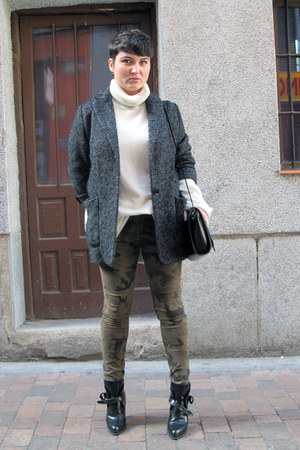 Mango coat - Zara boots - Zara bag - MMM for H&M jumper - Zara pants