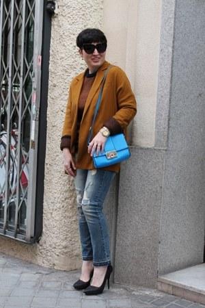 Zara jeans - Zara blazer - asos bag - COS jumper - Zara heels