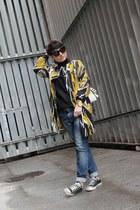 Bimba y Lola coat - Bershka jeans - Michael Kors bag - Converse sneakers