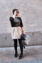 Zara skirt - Furla bag - MINUSEY necklace - Zara sweatshirt