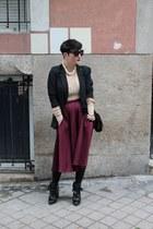 weekday top - Zara boots - Zara bag - asos skirt