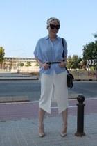 asos skirt - Zara shirt - Mango heels