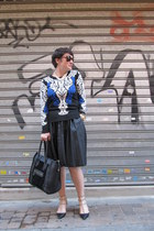 Valentino heels - Tom Ford sunglasses - Uterqüe skirt - Glamorous jumper