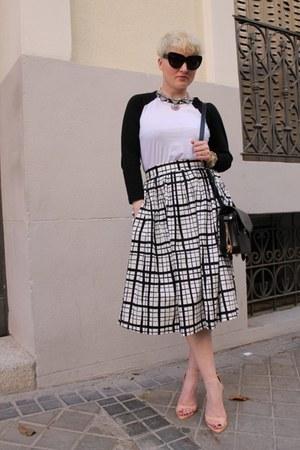 asos skirt - Alexander Wang bag - Mango necklace - Zara sandals - asos t-shirt