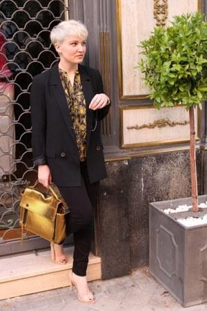 Mary Portas shirt - Zara blazer - 31 Phillip Lim bag - Zara heels - Zara pants