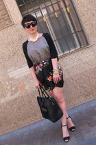 Zara skirt - Zara shirt - Zara sandals - Etsy necklace - Uterque belt