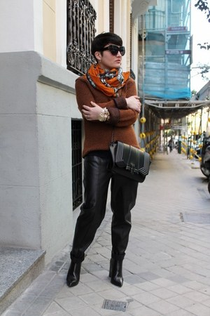 COS jumper - Zara boots - Zara scarf - H&M pants