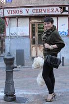Zara leggings - asos coat - Zara scarf - Zara bag - dune heels - Zara jumper