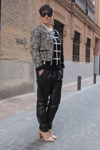 Choies jumper - Zara jacket - Mango pants - Mango heels