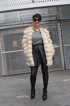 asos skirt - Zara boots - asos coat - H&M jumper - Nelly necklace