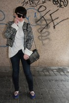 Zara jeans - Zara jacket - Zara bag - MMM for H&M jumper
