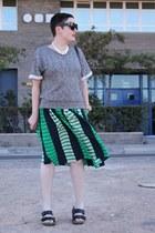 asos skirt - H&M t-shirt - Birkenstock sandals