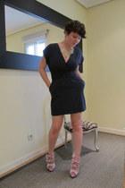 bow Chocolat Dor heels - blue Mango dress