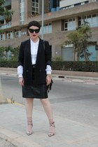 Oasis skirt - Zara blazer - COS shirt - Alexander Wang heels