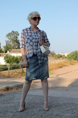 H&M skirt - Zara shirt - Michael Kors bag - Prada sunglasses - Mango heels