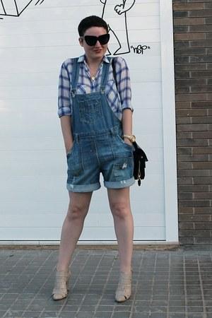 Zara shirt - Zara romper - Senso heels