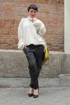 H&M pants - 31 Phillip Lim bag - Zara heels - MMM for H&M jumper