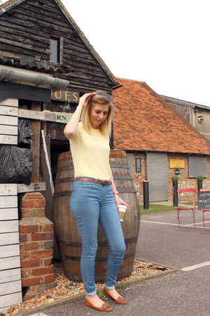 skinny Topshop jeans - yellow Topshop jumper - tan Topshop loafers