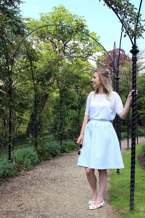 midi Topshop skirt - embellished River Island t-shirt