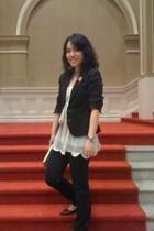 Zara blazer - My Room top - Esprit pants - TrendyZone shoes - Jaspal purse