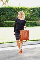 brown mules Marc Fisher sandals - Old Navy skirt