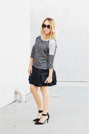 black boyfriend Mossimo sweater - black almond toe Mossimo heels