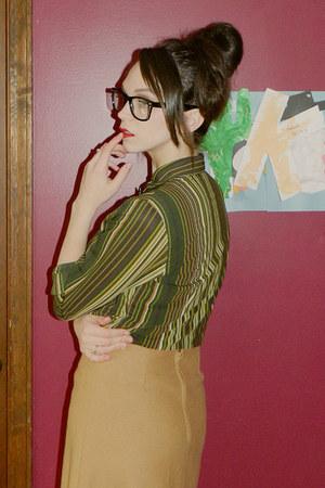 Old Navy blouse - skirt - glasses
