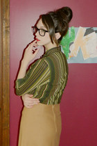 Old Navy blouse - skirt - glasses