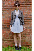 black inherited ankle Kristin Davis boots - light blue Emmelee FC dress