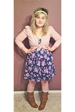 boots - Forever 21 dress - Forever 21 cardigan - Forever 21 accessories