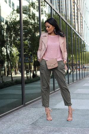 army green Zara pants