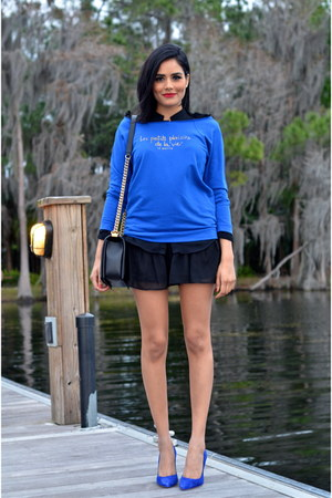 blue Juicy Couture heels - blue Le Motto top
