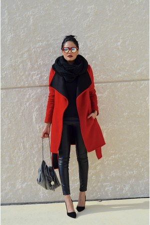 ruby red Silk coat