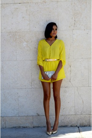 yellow Love Culture romper