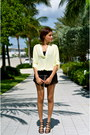 Black-bcbg-purse-black-forever-21-shorts-cream-lush-clothing-blouse