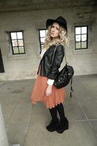 Topshop boots - H&M hat - new look shirt - Primark skirt