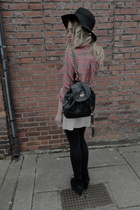 checked Topshop shirt - backpack Topshop bag