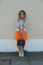 River Island skirt - Matalan bag - Boohoocom wedges - Boohoocom necklace