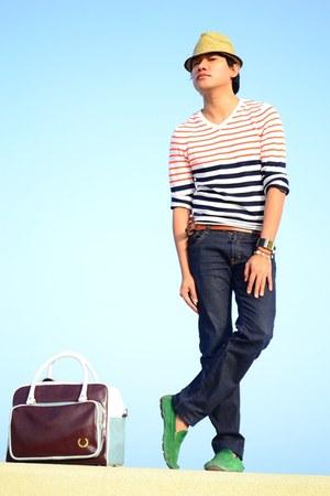 eggshell striped sweater H&M sweater