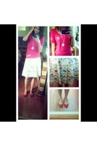 skirt - necklace - Penshoppe blouse - mags flats