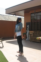 Zara shirt - jeans - vintage jacket - Pill shoes - Juicy Agatha accessories
