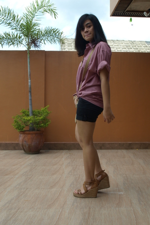Marks and Spencer top - Old Navy shorts - CMG shoes - coach accessories