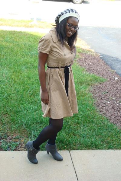 Candies dress - kohls boots - vintage hat