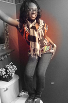 Claires scarf - Ghana shirt - I Love Ronson jeans - Steve Madden shoes
