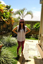 jeggings Pac Sun jeans - sleeveless Forever 21 top - Sketchers wedges